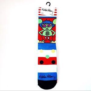 Keith Haring Artwork Crew Socks Andy Mouse Art
